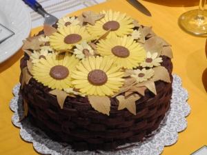 Autumn birthday cake, ideal for thanksgiving dinner